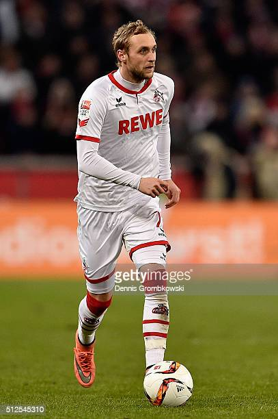 Marcel Risse of 1 FC Koeln controls the ball during the Bundesliga match between 1 FC Koeln and Hertha BSC at RheinEnergieStadion on February 26 2016...