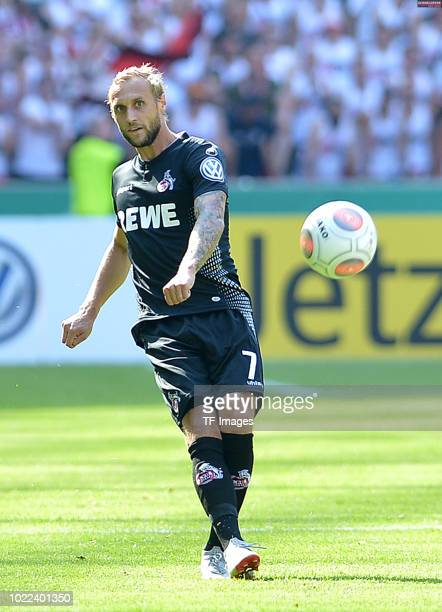 Marcel Risse of FC Koeln controls the ball during the DFB Cup first round match between BFC Dynamo and 1 FC Koeln at Olympiastadion on August 19 2018...
