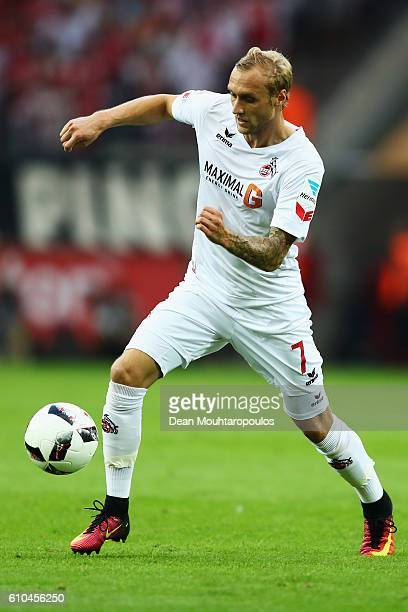 Marcel Risse of Koeln in action during the Bundesliga match between 1 FC Koeln and RB Leipzig at RheinEnergieStadion on September 25 2016 in Cologne...