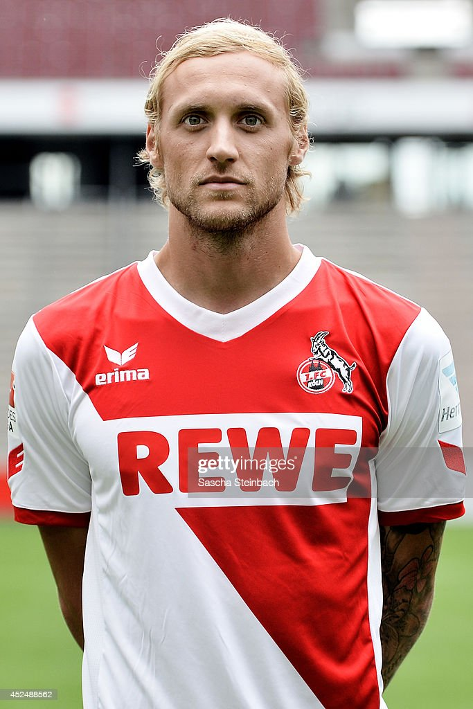 Marcel Risse poses during 1. FC Koeln team presentation at RheinEnergieStadion on July 21, 2014 in Cologne, Germany.