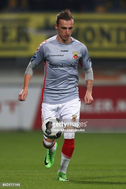Marcel Ritzmaier of Go Ahead Eagles in action during the Dutch Eredivisie match between Roda JC and Go Ahead Eagles held at Parkstad Limburg Stadion...