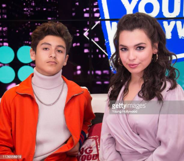 Marcel Ruiz and Isabella Gomez at the Young Hollywood Studio on January 31 2019 in Los Angeles California