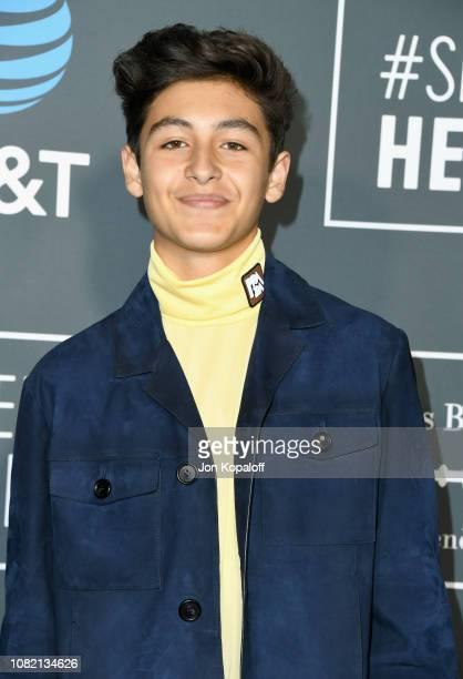 Marcel Ruiz attends the 24th annual Critics' Choice Awards at Barker Hangar on January 13 2019 in Santa Monica California