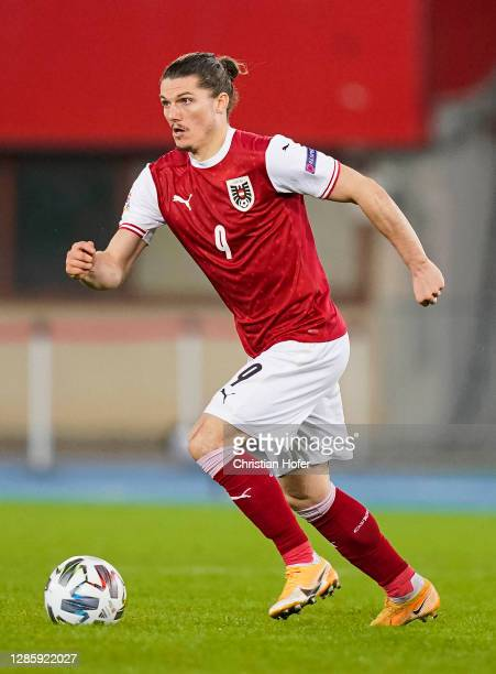 Marcel Sabitzer of Austria in action during the UEFA Nations League group stage match between Austria and Northern Ireland at Ernst Happel Stadion on...