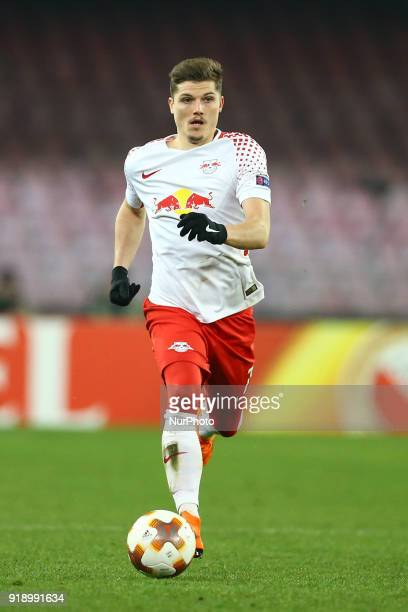 Marcel Sabitzer of RB Leipzig during UEFA Europa League Round of 32 match between Napoli and RB Leipzig at the Stadio San Paolo on February 15 2018...