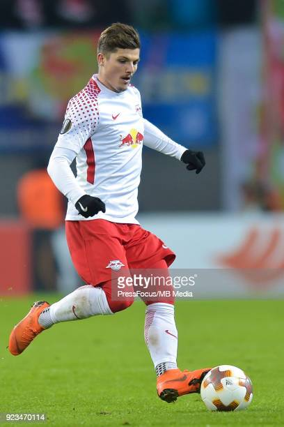 Marcel Sabitzer of RB Leipzig during UEFA Europa League Round of 32 match between RB Leipzig and Napoli at the Red Bull Arena on February 22 2018 in...