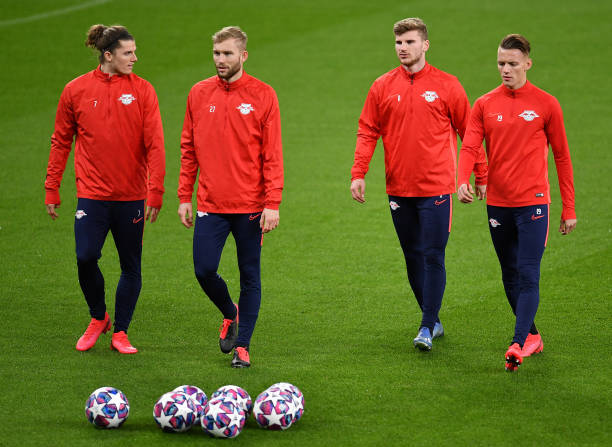GBR: RB Leipzig Training Session and Press Conference