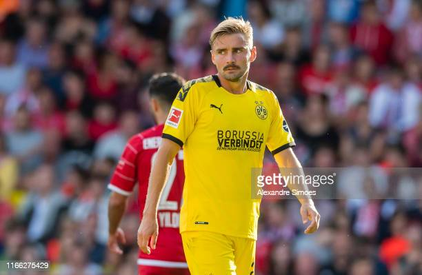 Marcel Schmelzer during the friendly match between Energie Cottbus and Borussia Dortmund at Stadion der Freundschaft on September 6, 2019 in Cottbus,...