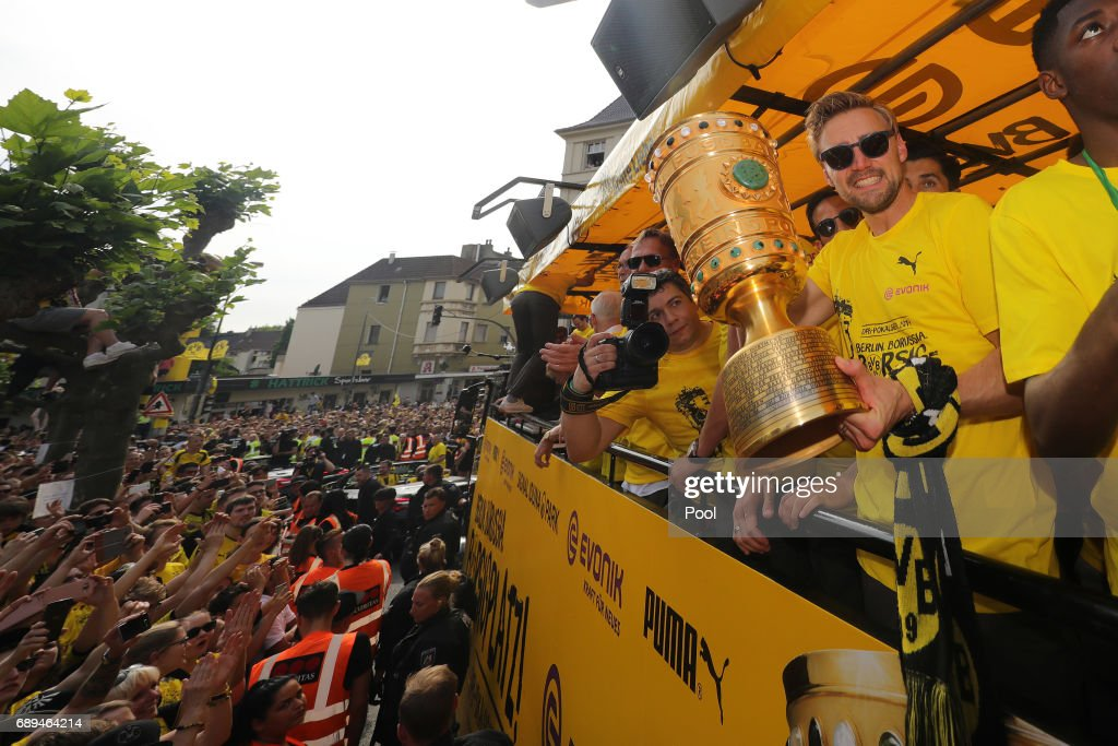 Borussia Dortmund Celebrates Winning The DFB Cup 2017