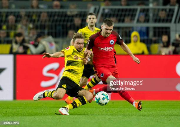 Marcel Schmelzer of Borussia Dortmund in action during the Bundesliga match between Borussia Dortmund and Eintracht Frankfurt at the Signal Iduna...