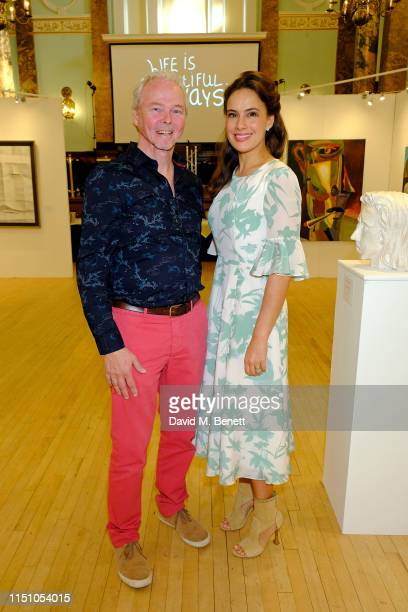 Marcel Schreur and Lady Sophie Windsor attend the opening of The London Art Biennale at Chelsea Old Town Hall on May 22 2019 in London England