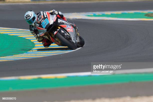 Marcel Schrotter of Germany and Dynavolt Intact GP rounds the bend during the MotoGP race during the MotoGp of France Race on May 20 2018 in Le Mans...