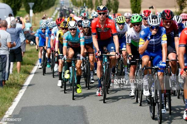 Marcel Sieberg of Germany and Team Bahrain Merida / Hubert Dupont of France and Team AG2R La Mondiale / Mark Cavendish of United Kingdom and Team...