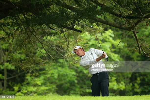 Marcel Siem of Germany hits his second shot on the 13th hole during the second round of the Irish Open on May 16 2008 at the Adare Manor Hotel and...
