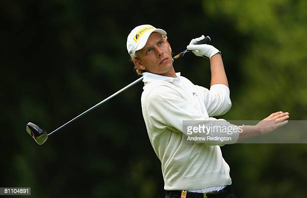Marcel Siem of Germany hits his teeshot on the 14th hole during the second round of the Irish Open on May 16 2008 at the Adare Manor Hotel and Golf...