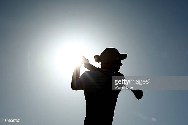 Marcel Siem of Germany tees off on the 11th hole during the second round of the Trophee du Hassan II at Golf du Palais Royal on March 29, 2013 in...