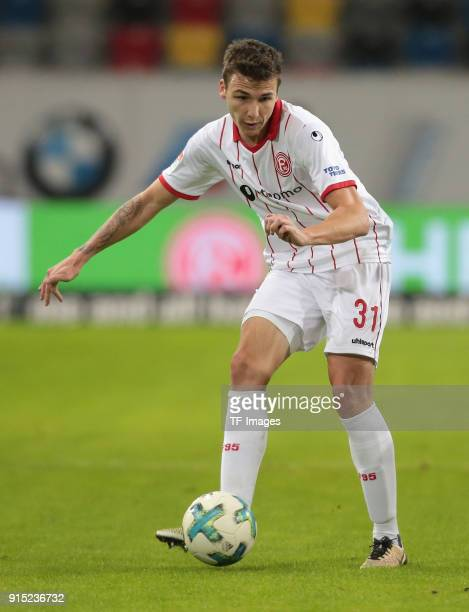 Marcel Sobottka of Duesseldorf controls the ball during the Second Bundesliga match between Fortuna Duesseldorf and FC Erzgebirge Aue at ESPRIT arena...