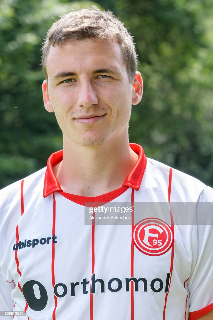 Marcel Sobottka of Fortuna Duesseldorf poses during the team presentation at on July 6, 2017 in Duesseldorf, Germany.