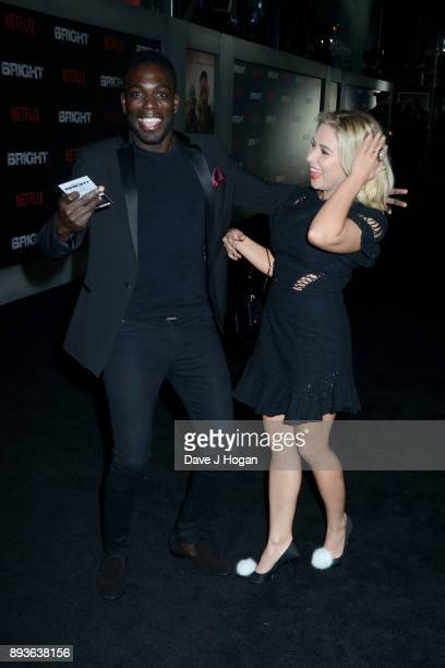 Marcel Somerville and Gabby Allen attend the European Premiere of 'Bright' held at BFI Southbank on December 15 2017 in London England