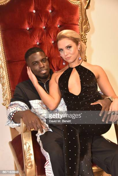 Marcel Somerville and Gabby Allen attend the Jaded LDN x Smashbox party at the Smashbox Studio on October 27 2017 in London England