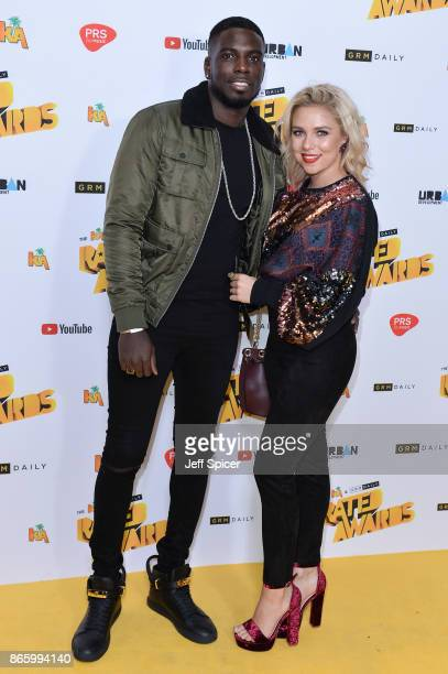 Marcel Somerville and Gabby Allen attend The Rated Awards at The Roundhouse on October 24 2017 in London England