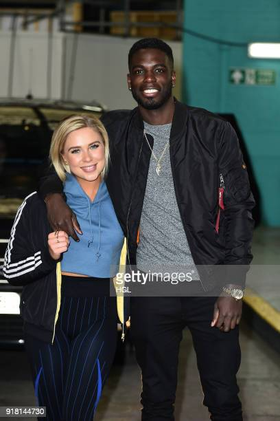 Marcel Somerville Gabby Allen seen at the ITV Studios on February 14 2018 in London England