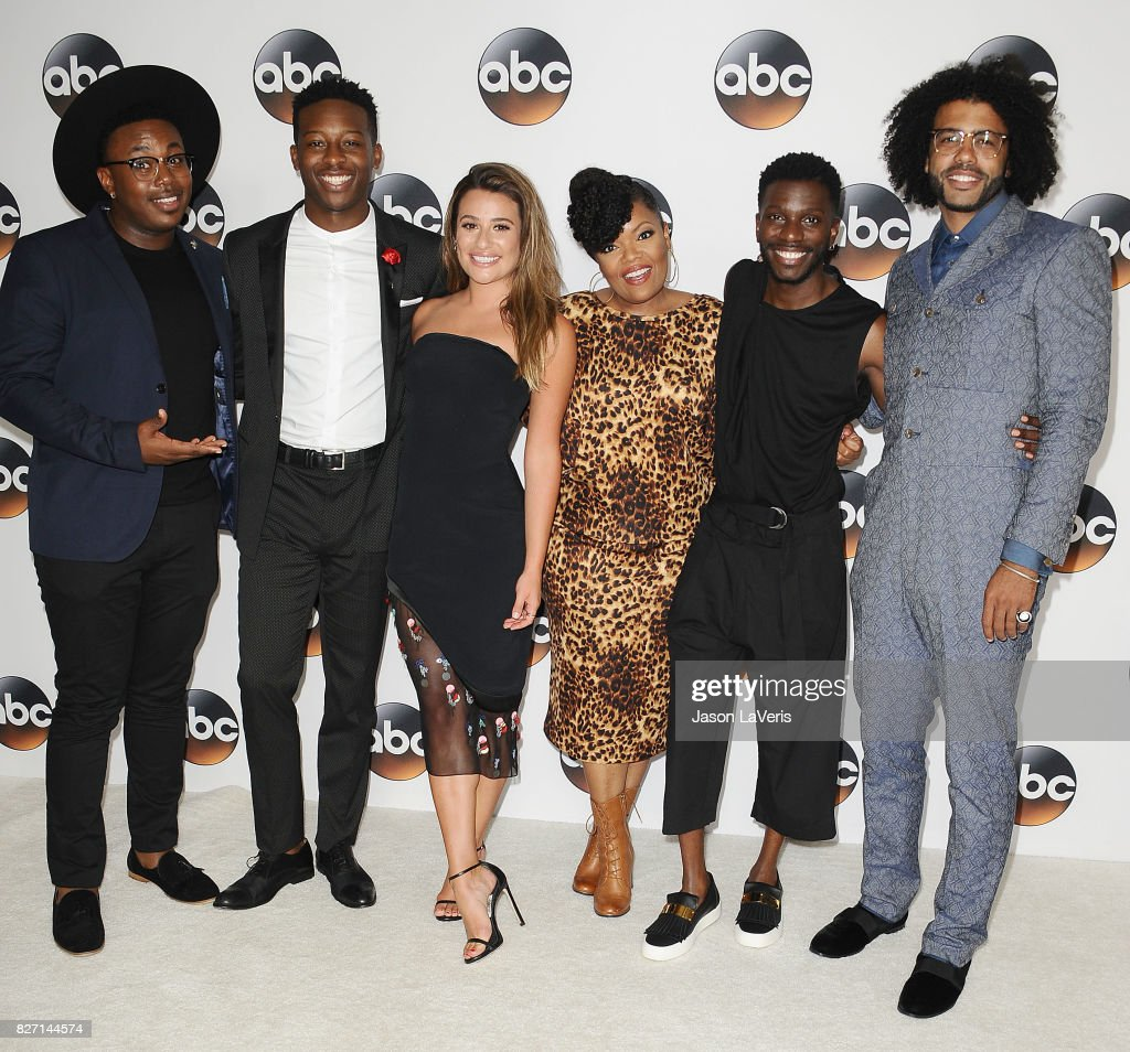 Marcel Spears, Lea Michele, Brandon Micheal Hall, Daveed Diggs and Bernard David Jones attend the Disney ABC Television Group TCA summer press tour at The Beverly Hilton Hotel on August 6, 2017 in Beverly Hills, California.