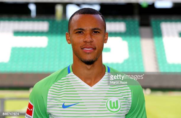 Marcel Tisserand of VfL Wolfsburg poses during the team presentation at on September 13 2017 in Wolfsburg Germany