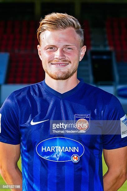 Marcel TitschRivero poses during the 1FC Heidenheim team presentation at VoithArena on July 5 2016 in Heidenheim Germany