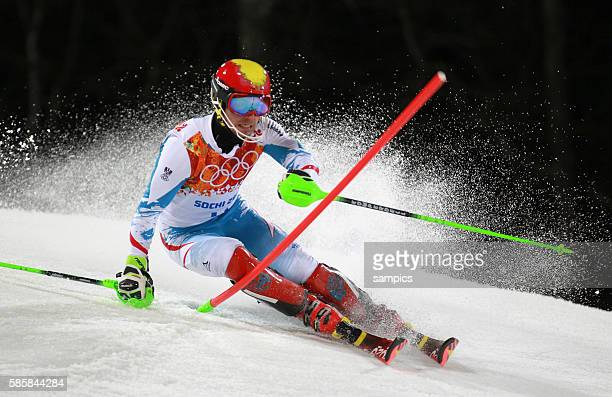 Marcel Zweiter Silbermedailiengewinner Silver AUT alpin ski slalom men männer olympic winter games 2014 sochi olympische Spiele winterspiele in Sochi...