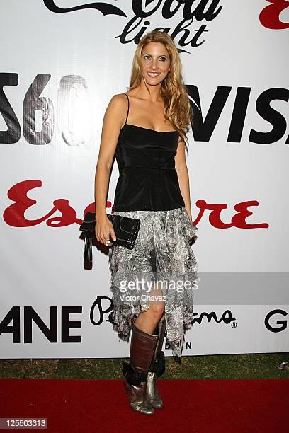 Marcela Cuevas attends the Esquire Mexico Magazine 2nd Anniversary Masquerade Party at Reforma 423 on November 25 2010 in Mexico City Mexico