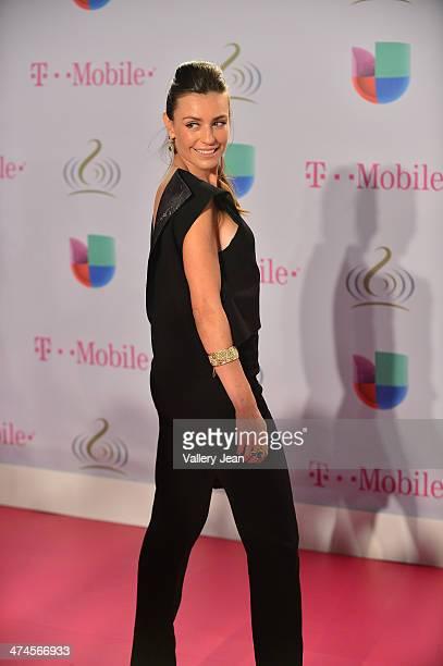 Marcela Mar arrives at Premio Lo Nuestro a la Musica Latina 2014 at American Airlines Arena on February 20 2014 in Miami Florida