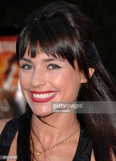 Marcela Mar arrives at the Los Angeles Premiere Of Tropic Thunder at the Mann's Village Theater on August 11 2008 in Los Angeles California