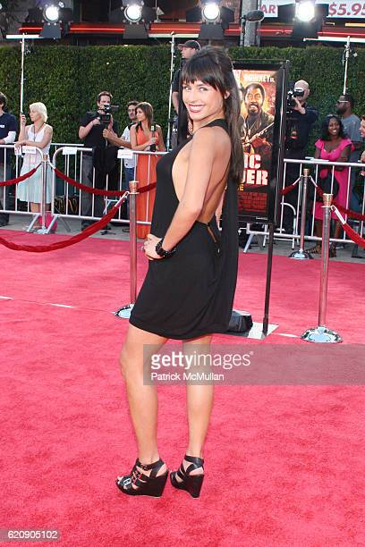 Marcela Mar attends TROPIC THUNDER LOS ANGELES PREMIER at Mann's Village Theater on August 11 2008 in Los Angeles CA