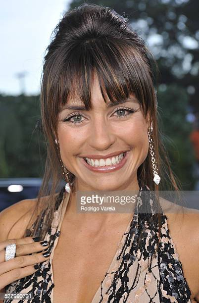 Marcela Mar poses on the red carpet at the Premio Juventud Awards at Bank United Center on July 17 2008 in Miami Florida