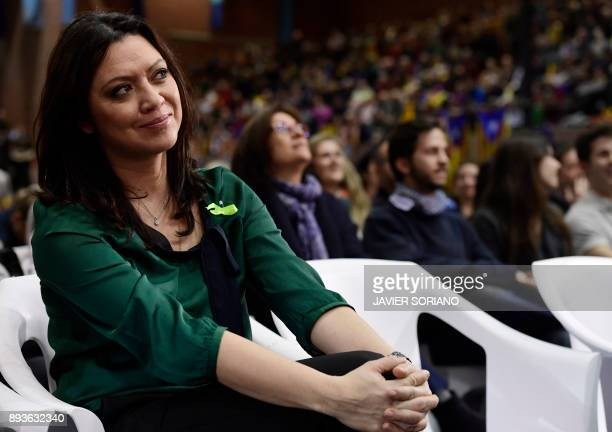 Marcela Topor wife of 'Junts per Catalonia' JUNTSXCAT grouping candidate for the upcoming Catalan regional election deposed regional president Carles...