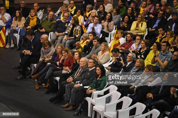 Marcela Topor wife of the former Catalan president Carles PuigdemontÊ attends a Junts Per Catalunya party rally for the forthcoming Catalan election...