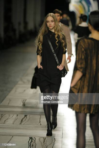 Marcelina Sowa wearing 3.1 Phillip Lim Fall 2007 during Mercedes-Benz Fashion Week Fall 2007 - 3.1 Phillip Lim - Runway at Waterfront Building in New...