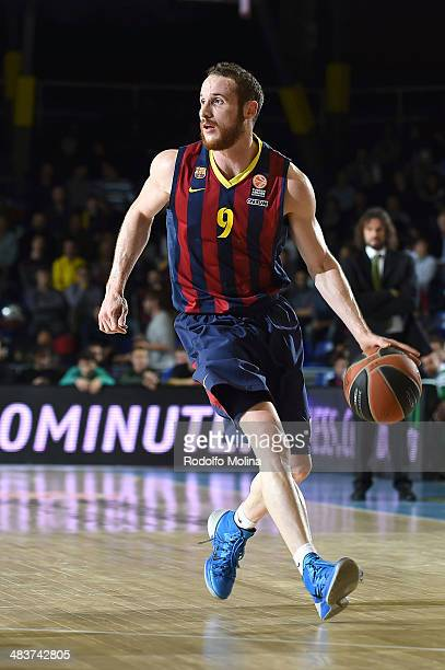 Marcelinho Huertas #9 of FC Barcelona in action during the 20132014 Turkish Airlines Euroleague Top 16 Date 12 game between FC Barcelona Regal v...