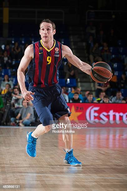 Marcelinho Huertas #9 of FC Barcelona in action during the 20132014 Turkish Airlines Euroleague Top 16 Date 14 game between FC Barcelona Regal v...