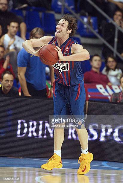 Marcelinho Huertas #9 of FC Barcelona Regal in action during the 20122013 Turkish Airlines Euroleague Regular Season Game Day 3 between FC Barcelona...