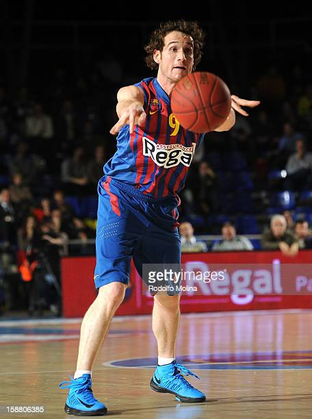 Marcelinho Huertas #9 of FC Barcelona Regal in action during the 20122013 Turkish Airlines Euroleague Top 16 Date 1 between FC Barcelona Regal v...