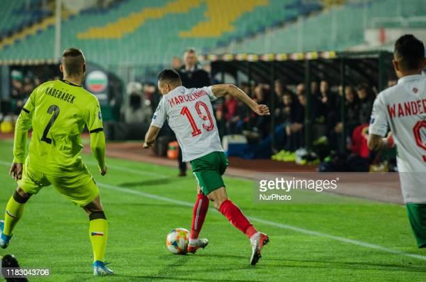 Marcelinho, of Bulgaria controls the ball during UEFA EURO 2020 Qualifications Bulgaria v Czech Republic behind closed doors at Vasil Levski National...