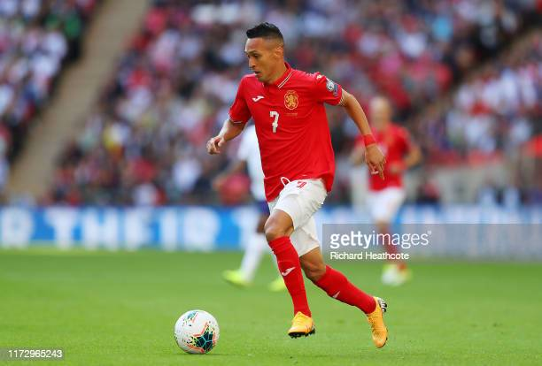 Marcelinho of Bulgaria in action during the UEFA Euro 2020 qualifier match between England and Bulgaria at Wembley Stadium on September 07, 2019 in...
