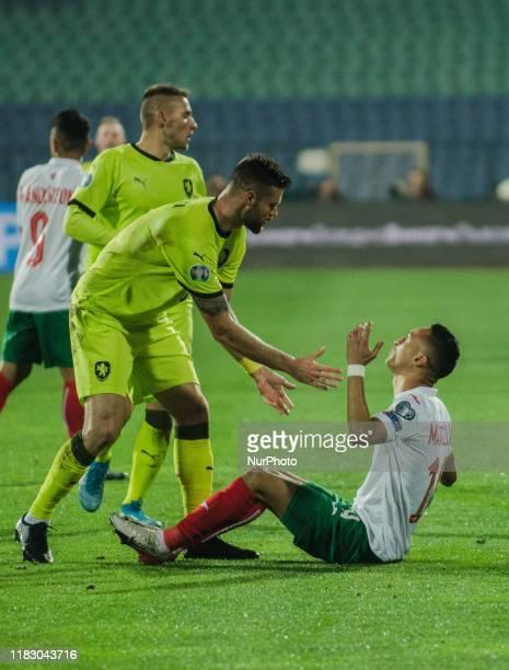 Marcelinho, of Bulgaria reacts during UEFA EURO 2020 Qualifications Bulgaria v Czech Republic behind closed doors at Vasil Levski National Stadium,...