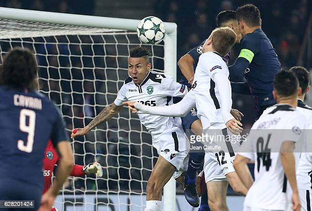 Marcelinho of Ludogorets in action during the UEFA Champions League match between Paris Saint-Germain and PFC Ludogorets Razgrad at Parc des Princes...