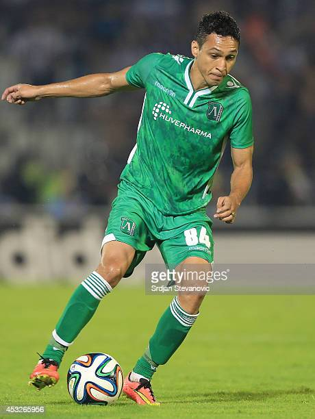Marcelinho of Ludogorets Razgrad in action during the UEFA Champions League third qualifying round 2nd leg match between Partizan Belgrade and...
