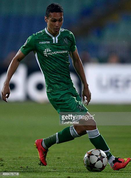 Marcelinho of Ludogorets Razgrad in action during the UEFA Champions League Qualifying Play-Offs Round second leg between PFC Ludgorets Razgrad and...