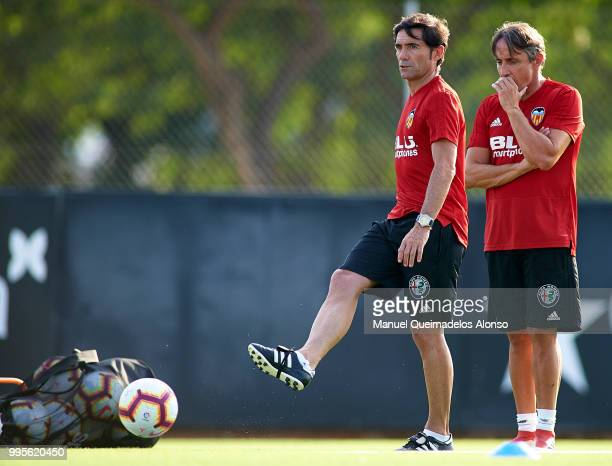 Marcelino Garcia Toral Manager of Valencia CF during training session at Paterna Training Centre on July 10 2018 in Valencia Spain