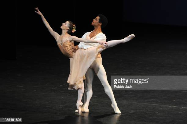 Marcelino Sambe and Anna Rose O' Sullivan in The Royal Ballet's production of Tchaikovsky Pas de Deux at The Royal Opera House on November 12, 2020...